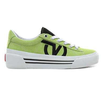 Vans Sid Ni Womens Green / White Trainers productafbeelding