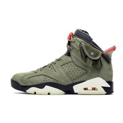 Travis Scott X Air Jordan 6 'Medium Olive' productafbeelding