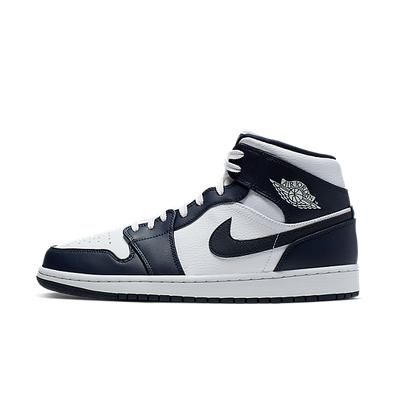 Nike Air Jordan 1 Mid (White / Metallic Gold - Obsidian) productafbeelding