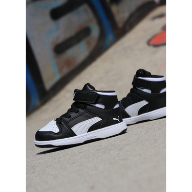 Puma Rebound lay-up black/white TS productafbeelding
