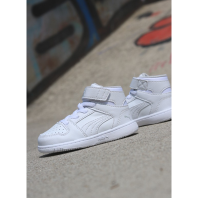 Puma Rebound lay-up white/white TS productafbeelding
