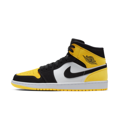 Air Jordan 1 Mid 'Yellow Toe' productafbeelding