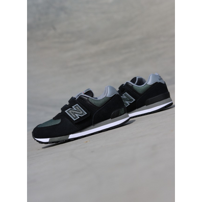New Balance 574 Black/Green PS productafbeelding