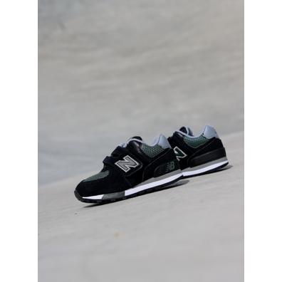 New Balance 574 Black/Green TS productafbeelding