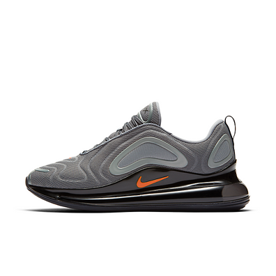 Nike Air Max 720 (Cool Grey / Bright Crimson - Black) productafbeelding