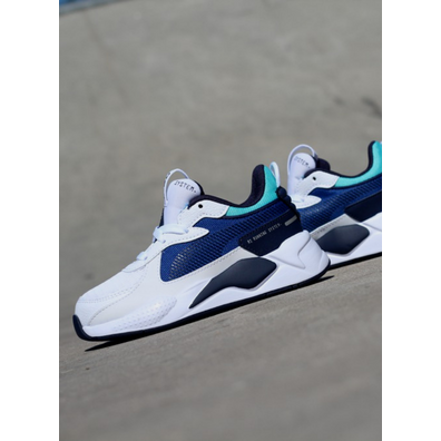 Puma Rs-X hard drive white/blue GS productafbeelding