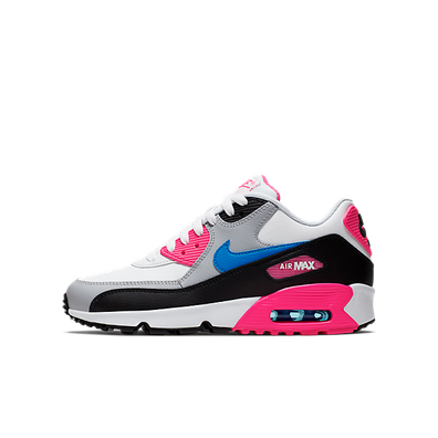 Damen Sneaker Air Max 90 LTR GS White Black Pink productafbeelding