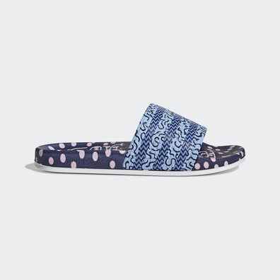 adidas Adilette W Collegiate Navy/ Glow Blue/ Real Blue productafbeelding