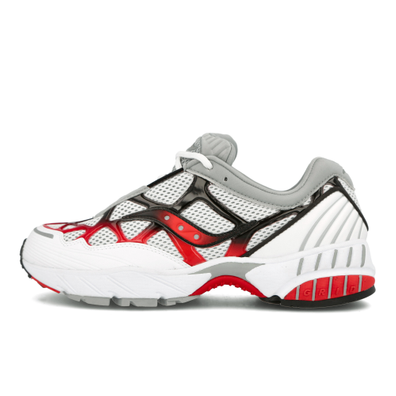 Saucony Grid Web (White / Grey / Red) productafbeelding