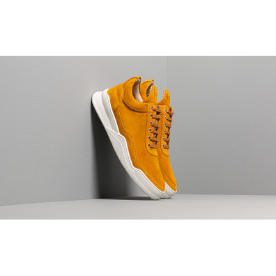Filling Pieces Low Top Ghost Suede Mustard productafbeelding