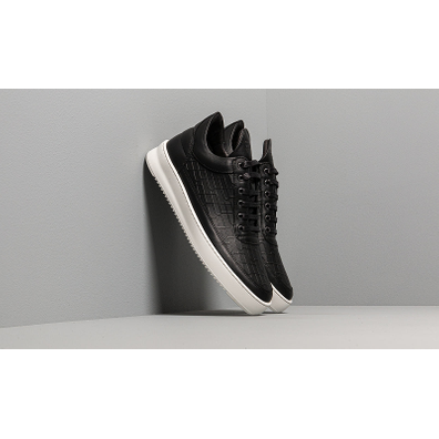 Filling Pieces Low Top Ripple Mono Black productafbeelding