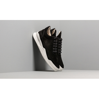 Filling Pieces Low Top Ghost Suede Black productafbeelding