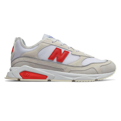 New Balance X-Racer Mens White / Red Trainers productafbeelding
