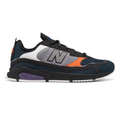 New Balance X-Racer Mens Black / Blue Trainers productafbeelding