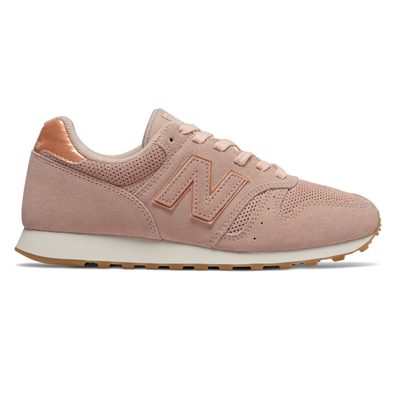 New Balance 373 Womens Pink Suede Trainers productafbeelding