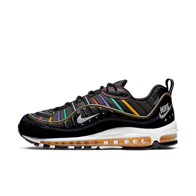 Nike Air Max 98 PRM (Black / Flash Crimson - Kinetic Green) productafbeelding