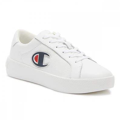 Champion Era Low Womens White Leather Trainers productafbeelding
