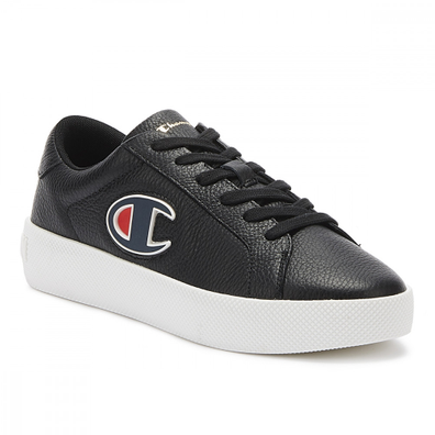 Champion Era Low Womens Black / White Leather Trainers productafbeelding