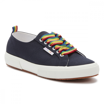 Superga 2750 Cotw Rainbow Pop Womens Navy Trainers productafbeelding