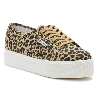 Superga 2790 Cotw Womens Classic Leopard Print Trainers productafbeelding