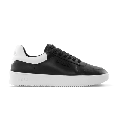 BALR. Leather Clean Logo Sneakers Low Black productafbeelding