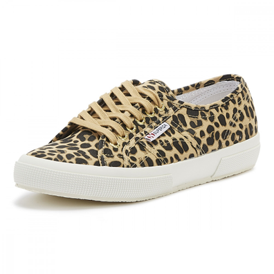 Superga 2750 Cotu Womens Classic Leopard Print Trainers productafbeelding
