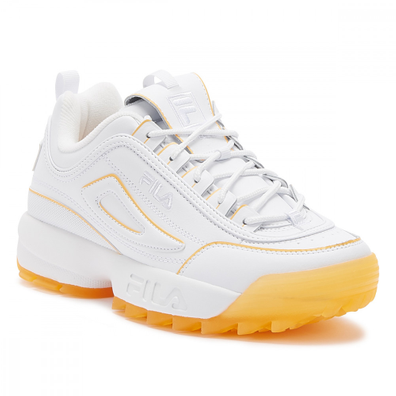 Fila Disruptor II Ice Womens White / Orange Pop Trainers productafbeelding