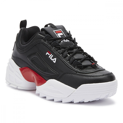 Fila Disruptor II Lab Mens Black / Red / White Trainers productafbeelding