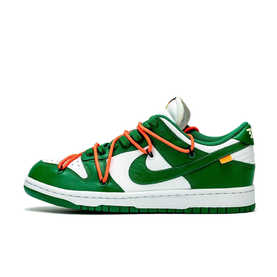 Off White X Nike Dunk Low 'Pine Green' - SNKRS DAY Exclusive Access productafbeelding