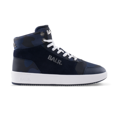 BALR. Original Brand Sneakers High Camo Blue productafbeelding