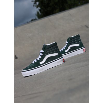 Vans Sk8-hi Green/White PS productafbeelding