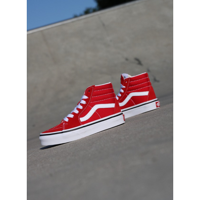 Vans Sk8-hi Racing Red/white PS productafbeelding