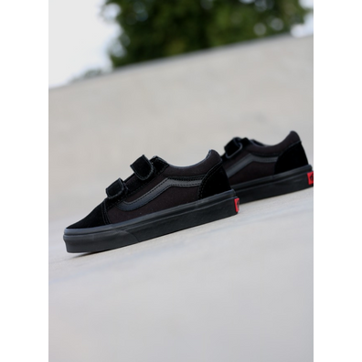 Vans Old skool Black/Black Velcro PS productafbeelding