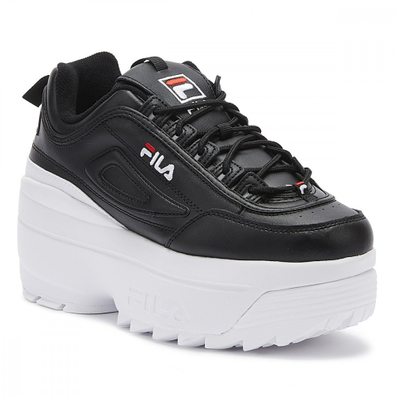 Fila Disruptor II Wedge Womens Black / White Trainers productafbeelding