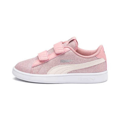 Puma Puma Smash V2 Glitz Glam Kid Girls Trainers productafbeelding