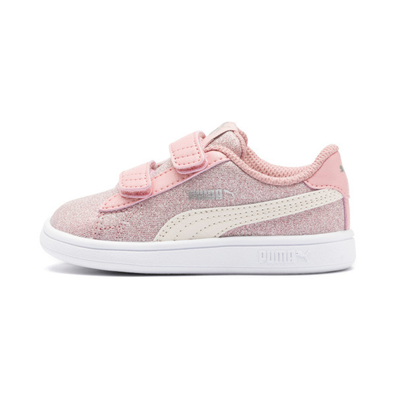 Puma Puma Smash V2 Glitz Glam Baby Girls Trainers productafbeelding