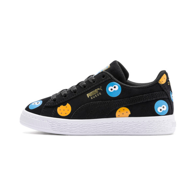 Puma Sesame Street 50 Suede Badge Kids Trainers productafbeelding