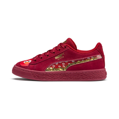 Puma Sesame Street 50 Suede Statement Kids Trainers productafbeelding