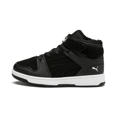 Puma Rebound Lay Up Fur V Kids Trainers productafbeelding