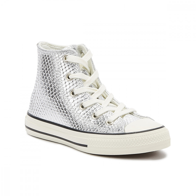 Converse Chuck Taylor All Star Youth Silver Hi Trainers productafbeelding