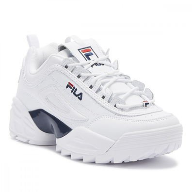 Fila Disruptor II Lab Mens White / Navy / Red Trainers productafbeelding