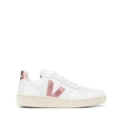 Veja V-10 Leather W (Extra White / Nacre) productafbeelding