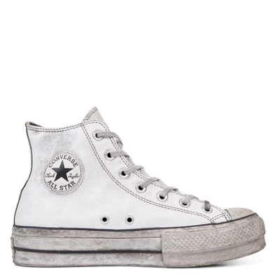 Chuck Taylor All Star Leather Smoke Platform High Top productafbeelding