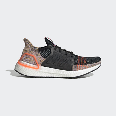 adidas UltraBOOST 19 w Core Black/ Crystal White/ Solar Orange productafbeelding
