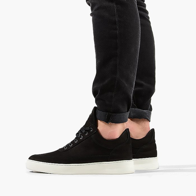 Filling Pieces Low Top Plain Lane Nubuck Black productafbeelding