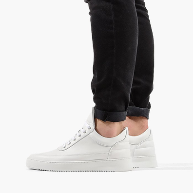Filling Pieces Low Top Ripple Lane Nappa All White 25121721855PMZ productafbeelding