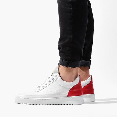 Filling Pieces Low Top Ripple Hades White/Red 25127381904PMZ productafbeelding