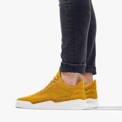Filling Pieces Low Top Ghost Suede Mustard 25222791960MSB productafbeelding