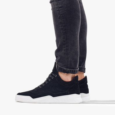 Filling Pieces Low Top Ghost Suede Black 25222791861MSB productafbeelding