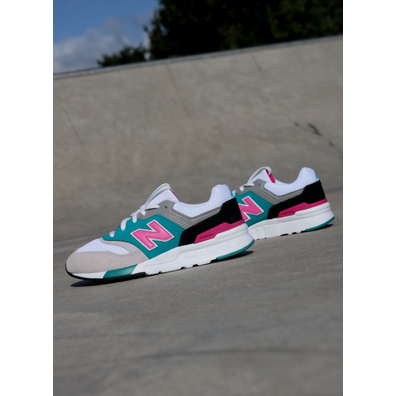 New Balance 997 Vintage Grey/Pink GS productafbeelding